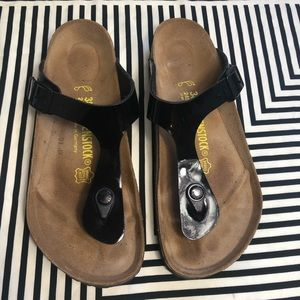 Birkenstock black Gizeh sandal like new